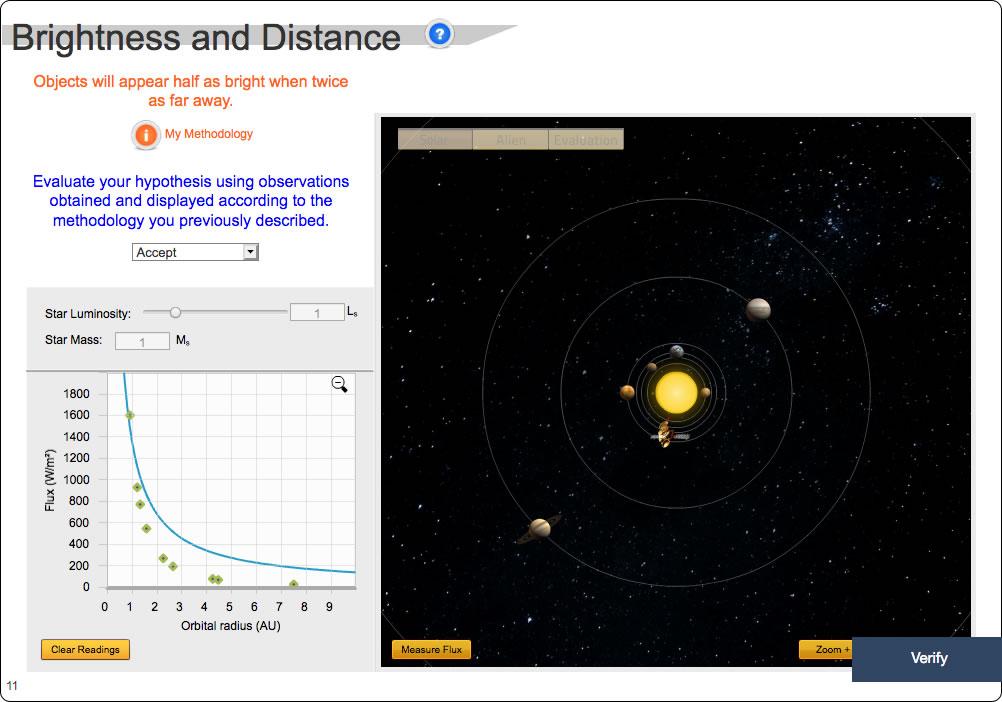 Brightness-Distance Relationship Screenshot