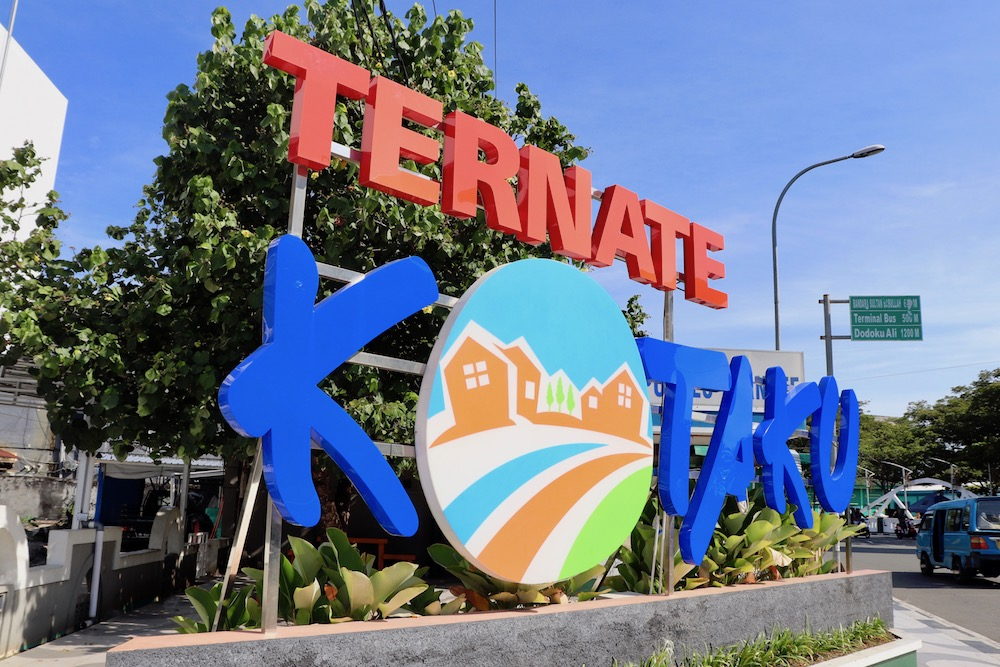 Sign for the city of Ternate